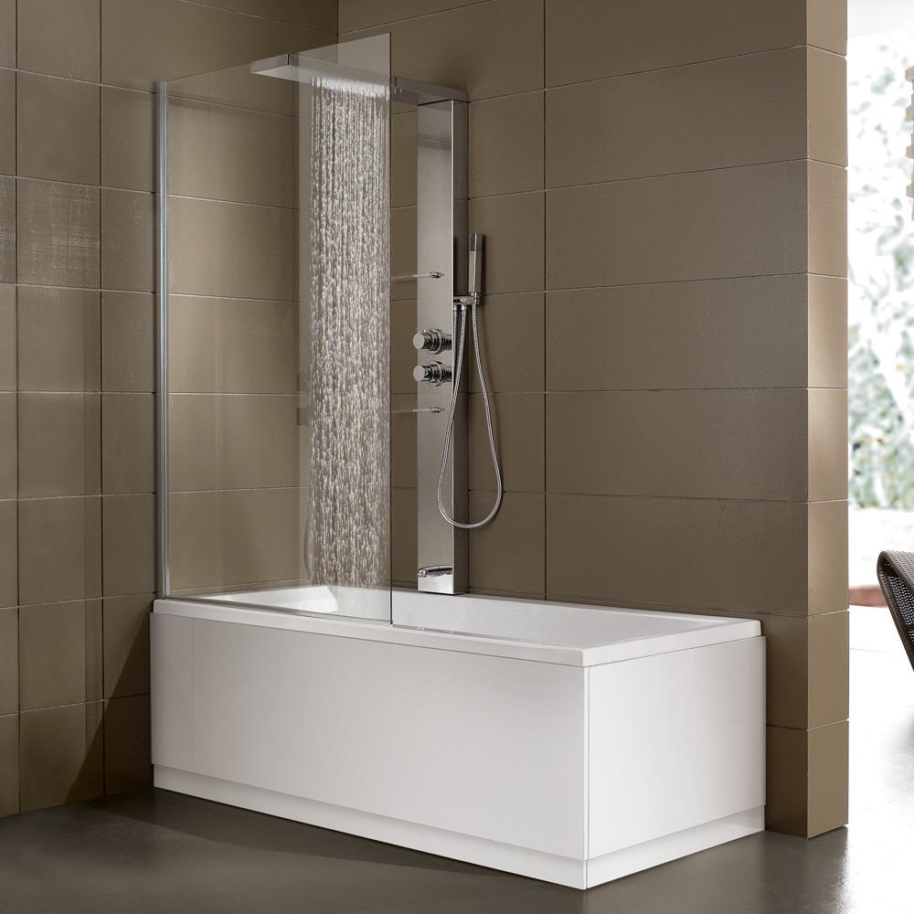 Bagno quando vasca e doccia diventano un 39 unica soluzione - Vasca doccia da bagno ...